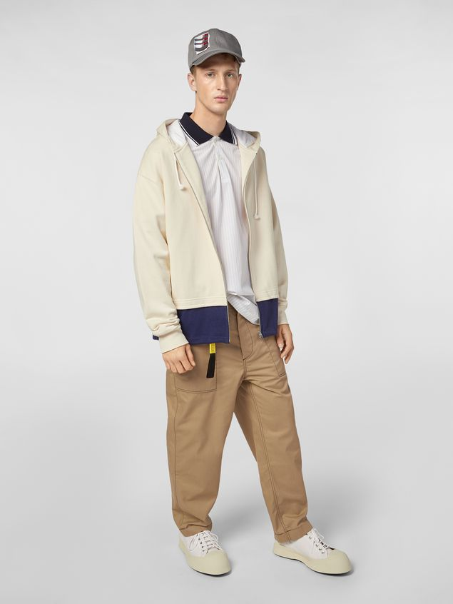 Marni Trousers in lightweight techno gabardine beige Man - 1