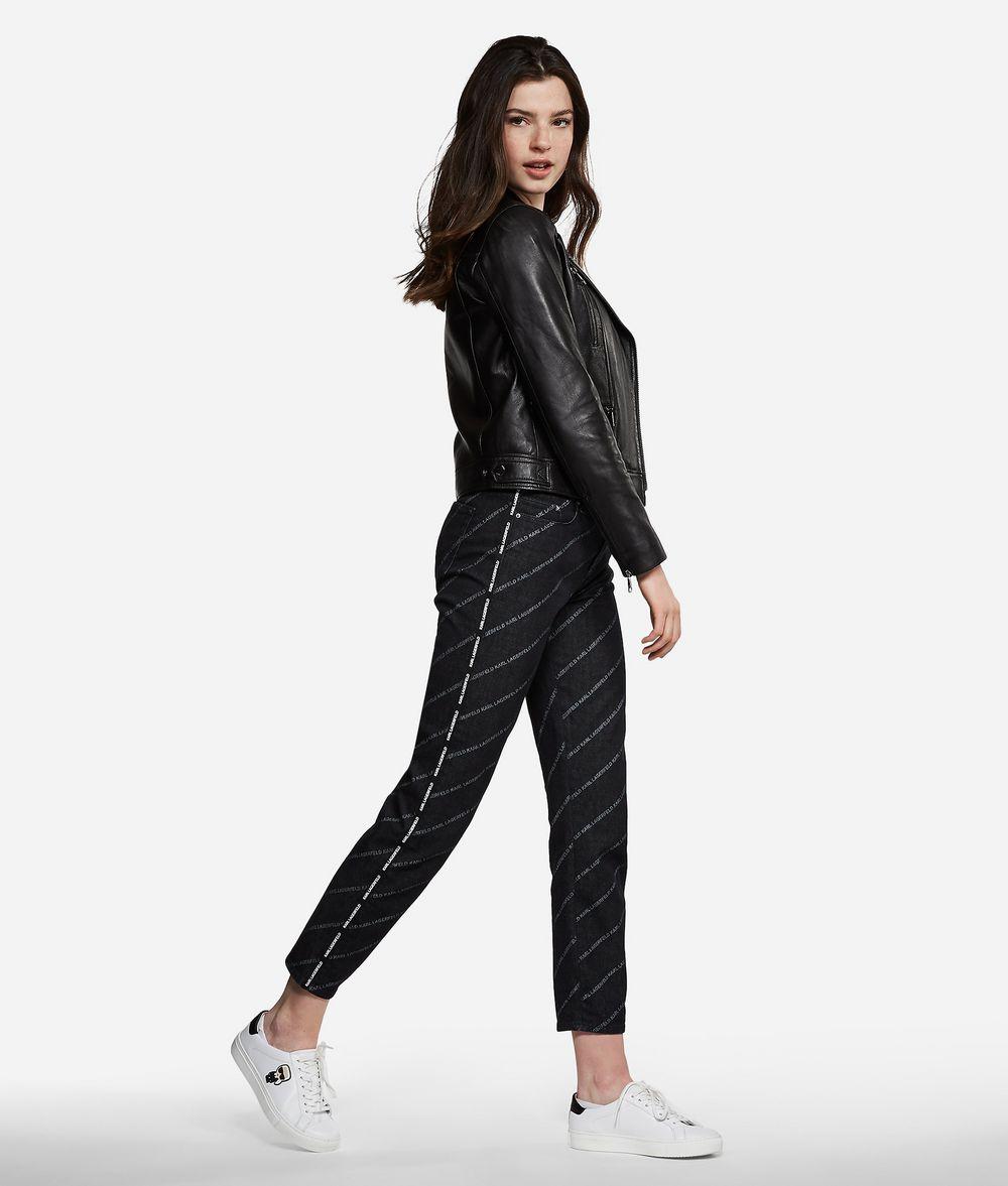 KARL LAGERFELD Jeans mit geradem Bein und Logoprint Hose Damen d