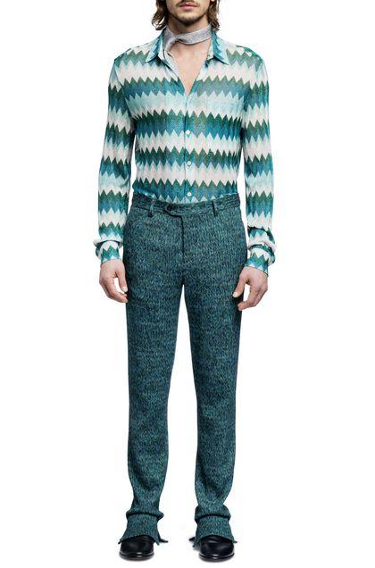 MISSONI Pantaloni Verde Uomo - Retro