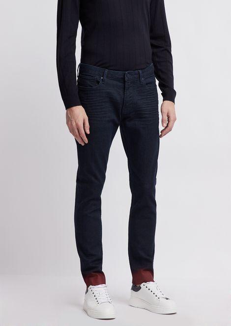Jeans j06 slim fit con fondo spalmato sfumato a contrasto
