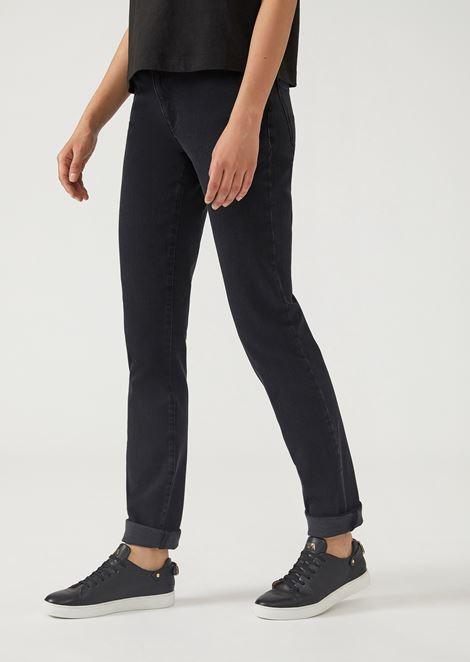 J18 super-skinny gabardine jeans