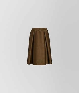 SKIRT IN WOOL AND SILK