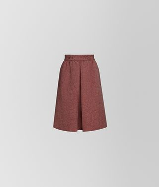SKIRT IN COTTON AND WOOL