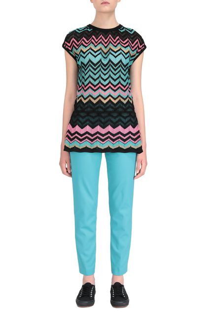 M MISSONI Pants Turquoise Woman - Back