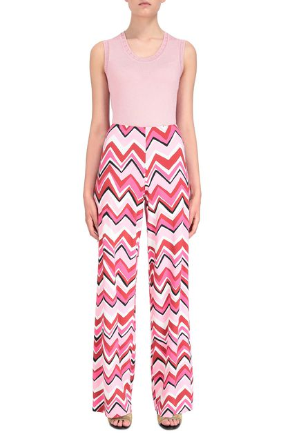 M MISSONI Pants Fuchsia Woman - Back
