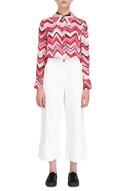 M MISSONI Pants White Woman - Back