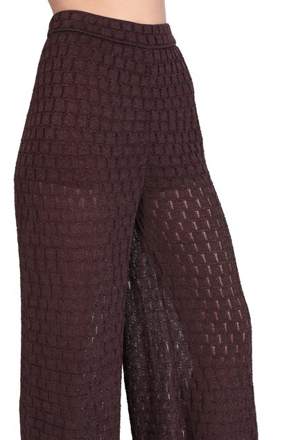 M MISSONI Pants Deep purple Woman - Front