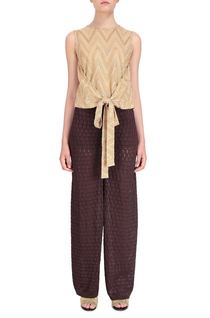 M MISSONI Pants Deep purple Woman - Back