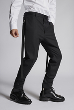 DSQUARED2 Chic Stretch Wool Cigarette Pants Trousers Man