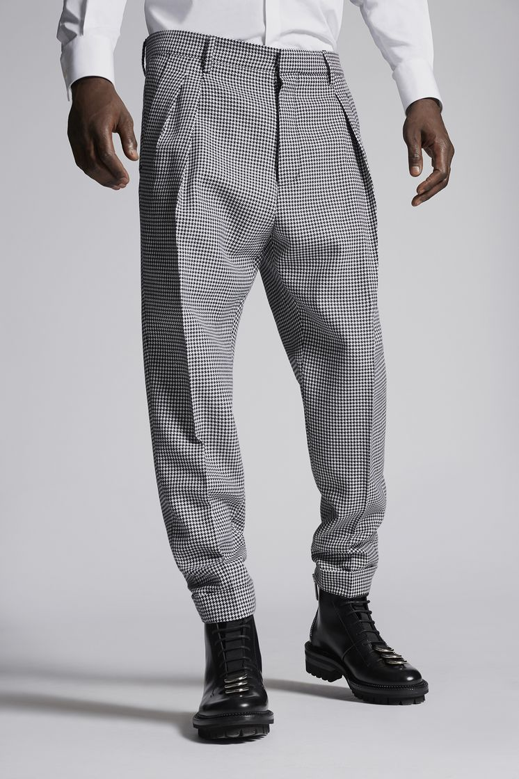 DSQUARED2 Houndstooth Two Pleats Pants Брюки Для Мужчин