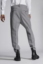 DSQUARED2 Houndstooth Two Pleats Pants Trousers Man