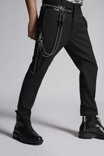 DSQUARED2 Chic Stretch Wool Hockney Pants Trousers Man