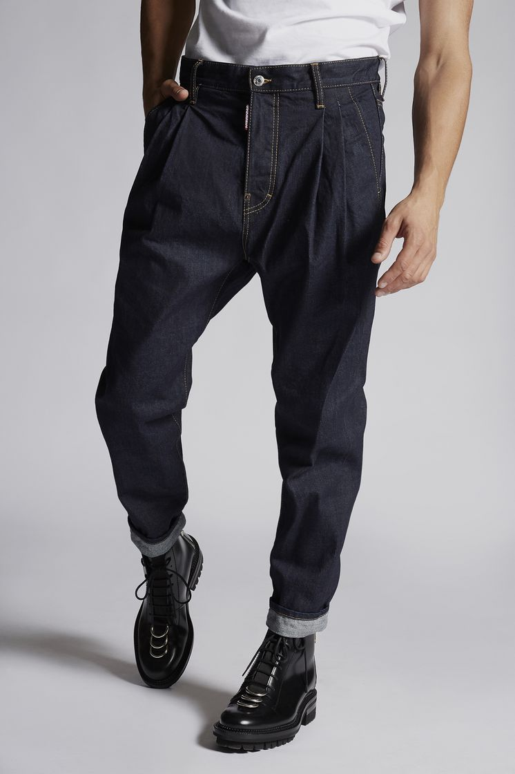 DSQUARED2 Denim Two Pleats Pants Trousers Man