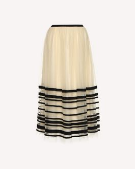 REDValentino Point d'esprit tulle skirt with ribbons