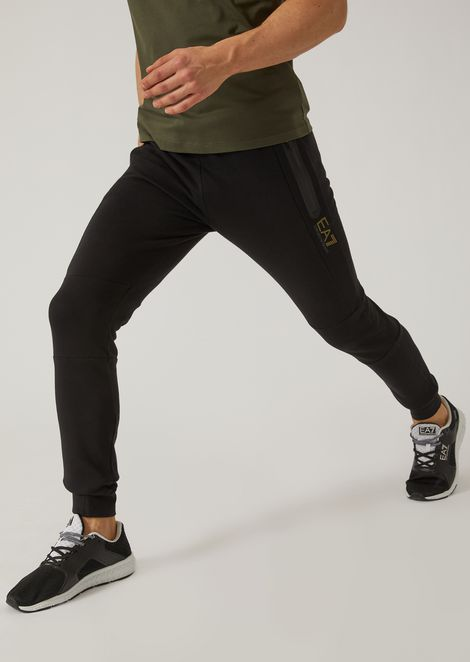 Fleece joggers with taped seams
