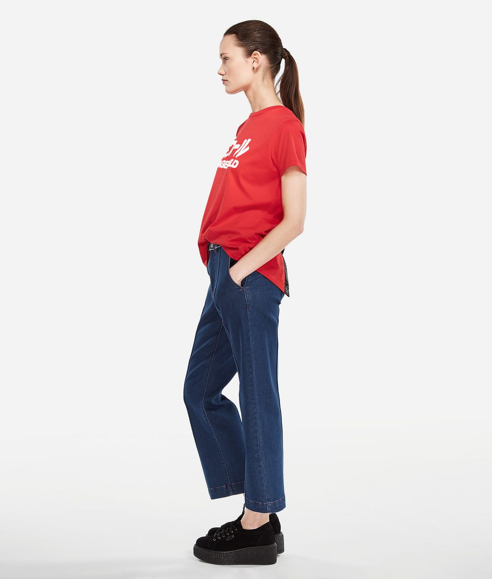 KARL LAGERFELD K/Tokyo Pintuck Jeans Jeans Woman d