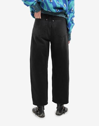 TROUSERS High-rise denim pants Black