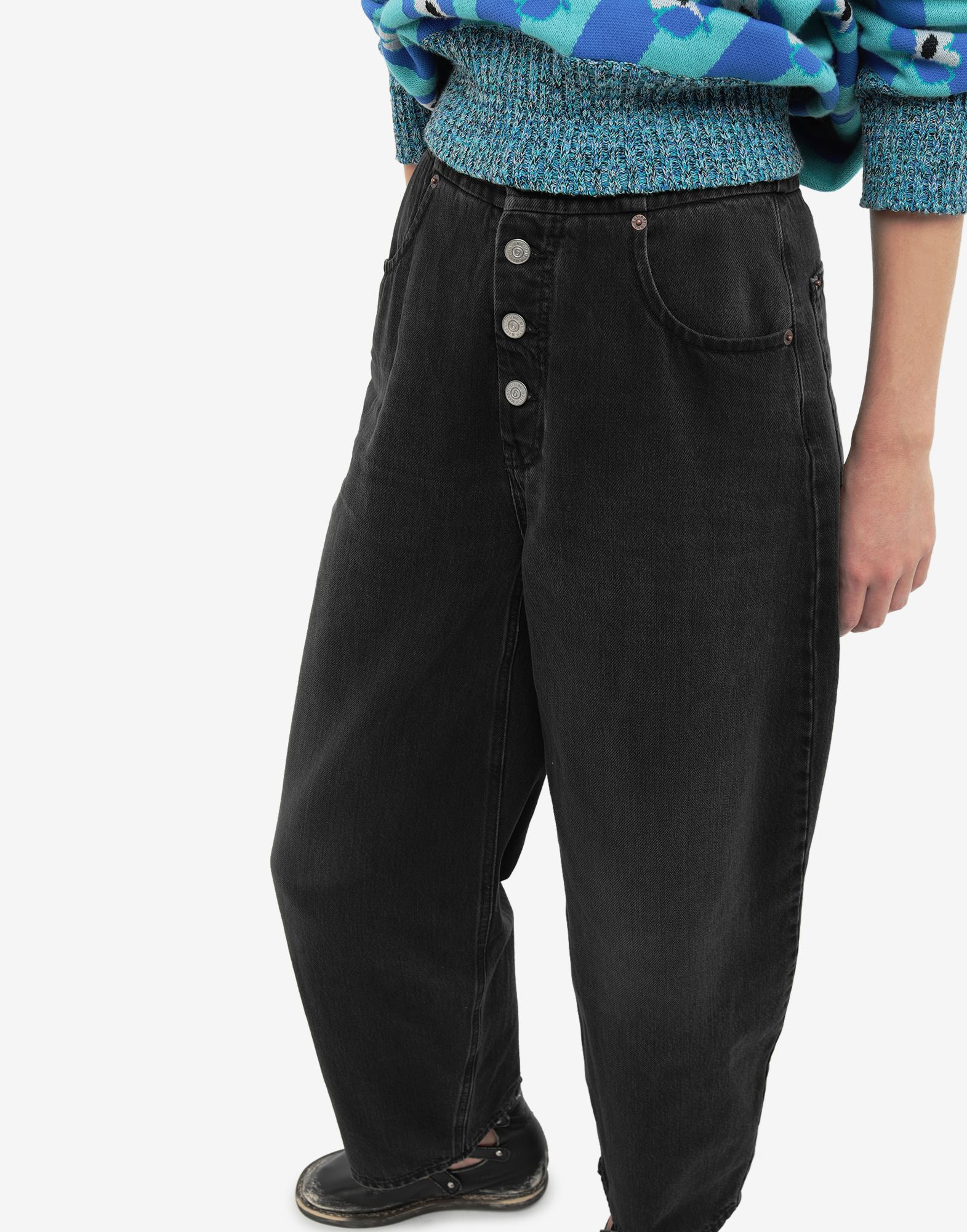 MM6 MAISON MARGIELA High-rise denim pants Jeans Woman a