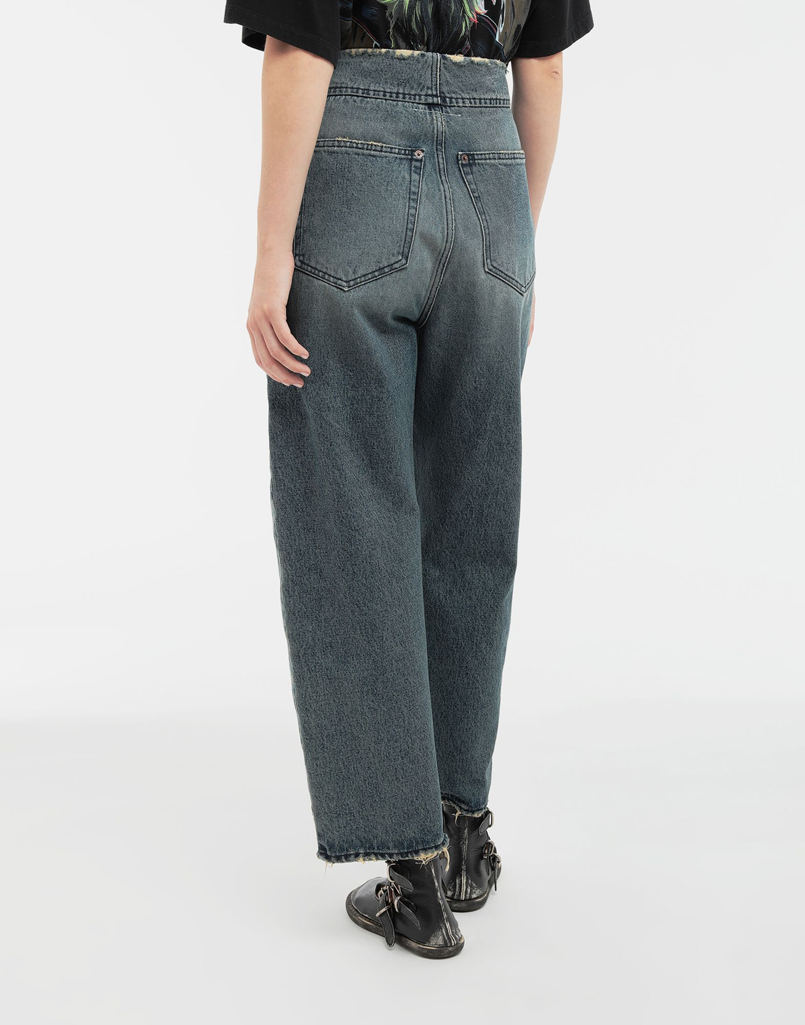 MM6 MAISON MARGIELA High-rise denim pants Jeans Woman e