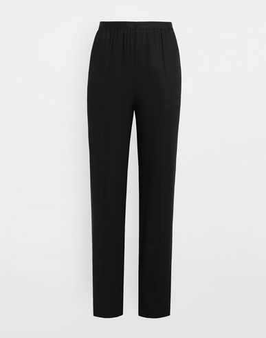 PANTS Pleated stretch-canvas pants