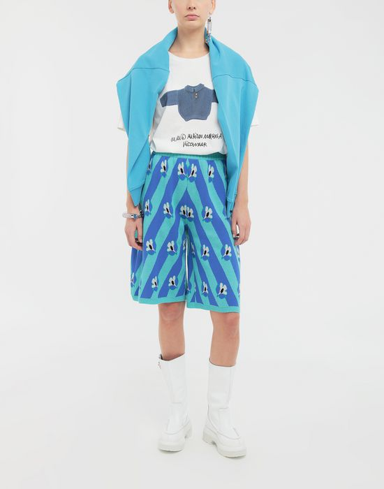 MM6 MAISON MARGIELA Floral-print jacquard pants Bermuda [*** pickupInStoreShipping_info ***] d