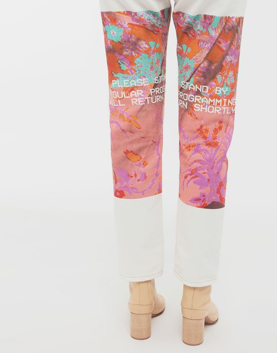 MAISON MARGIELA Digital Floral-print slim-fit denim pants Jeans [*** pickupInStoreShipping_info ***] b