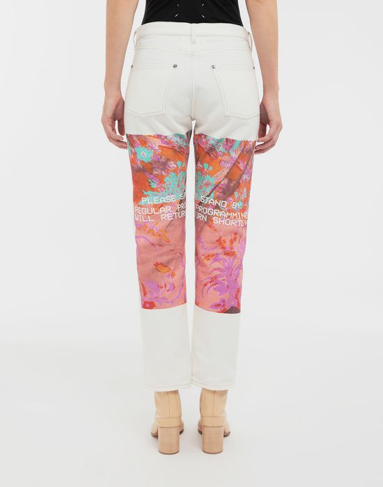 MAISON MARGIELA Digital Floral-print slim-fit denim pants Jeans [*** pickupInStoreShipping_info ***] e