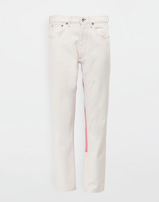 MAISON MARGIELA Digital Floral-print slim-fit denim pants Jeans [*** pickupInStoreShipping_info ***] f