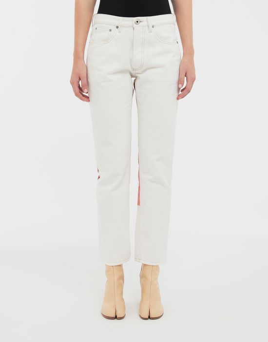 MAISON MARGIELA Digital Floral-print slim-fit denim pants Jeans [*** pickupInStoreShipping_info ***] r