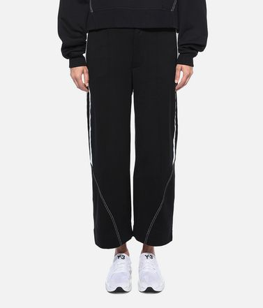 Y-3 Sweatpants Woman Y-3 Wide 3/4 Pants r