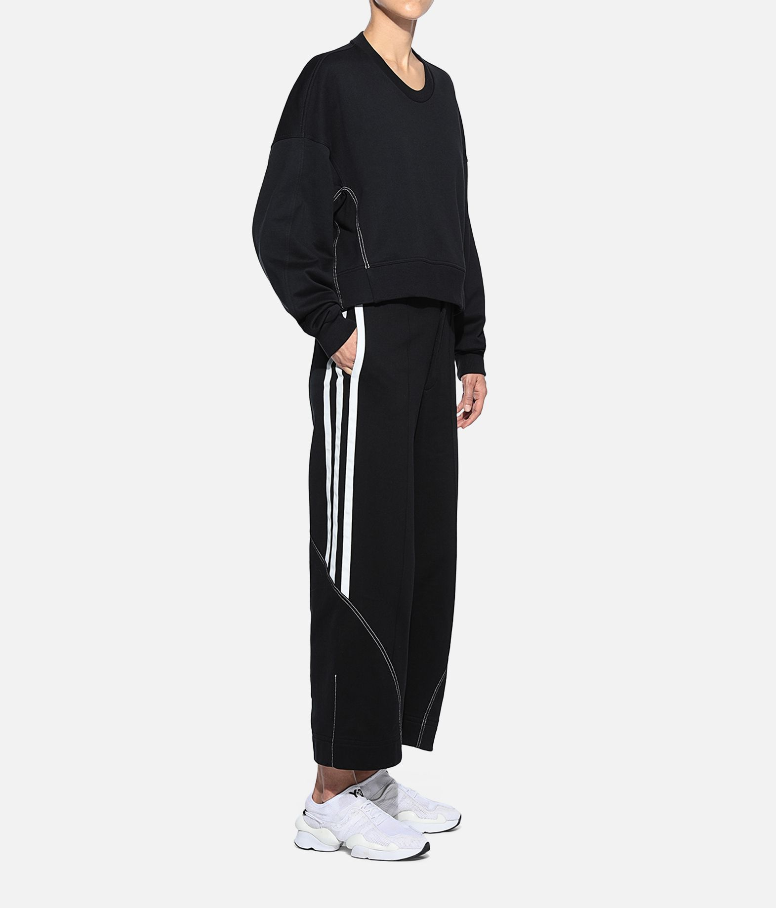 Y-3 Y-3 Wide 3/4 Pants Fleece-Hose Damen a