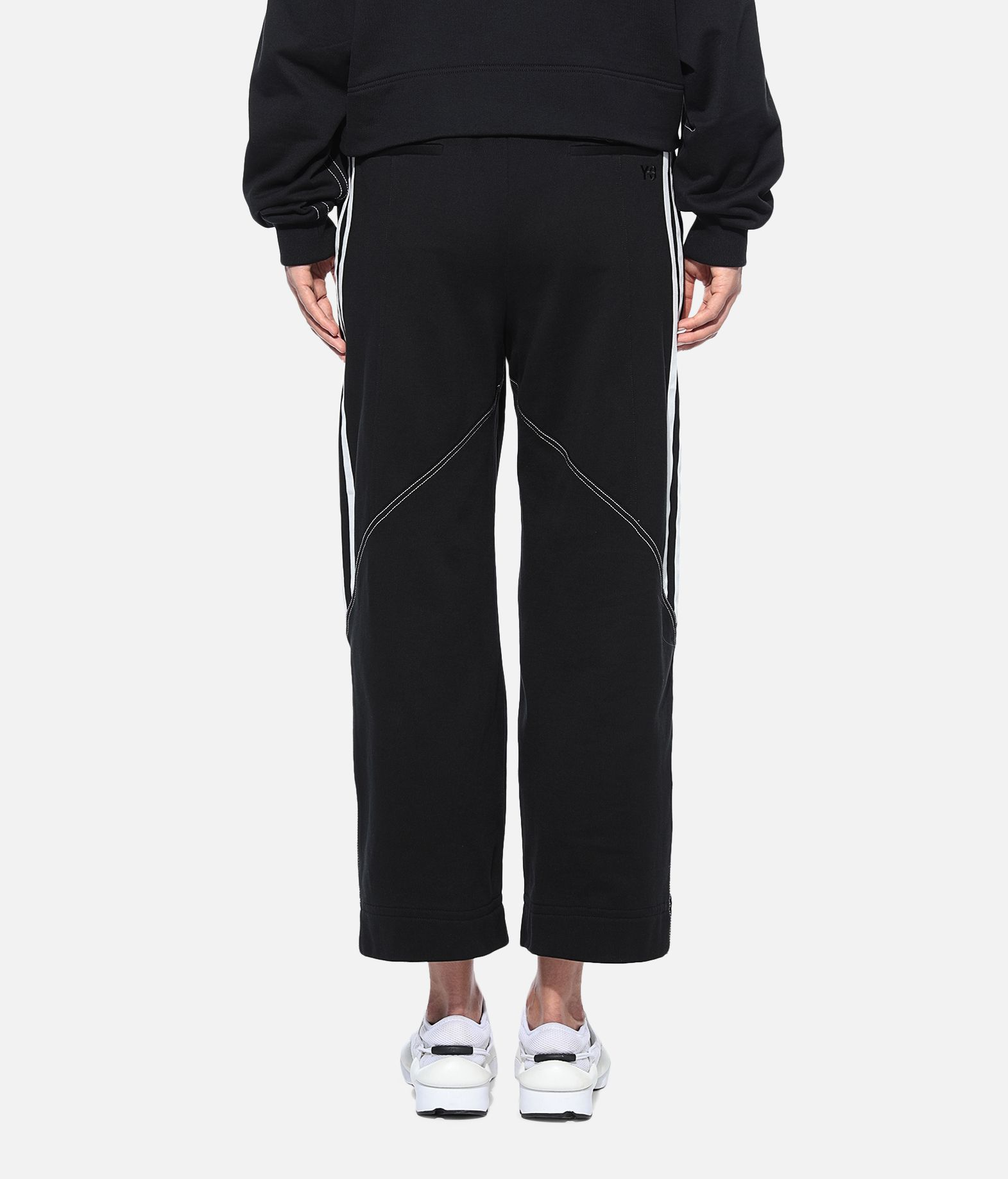 Y-3 Y-3 Wide 3/4 Pants Fleece-Hose Damen d