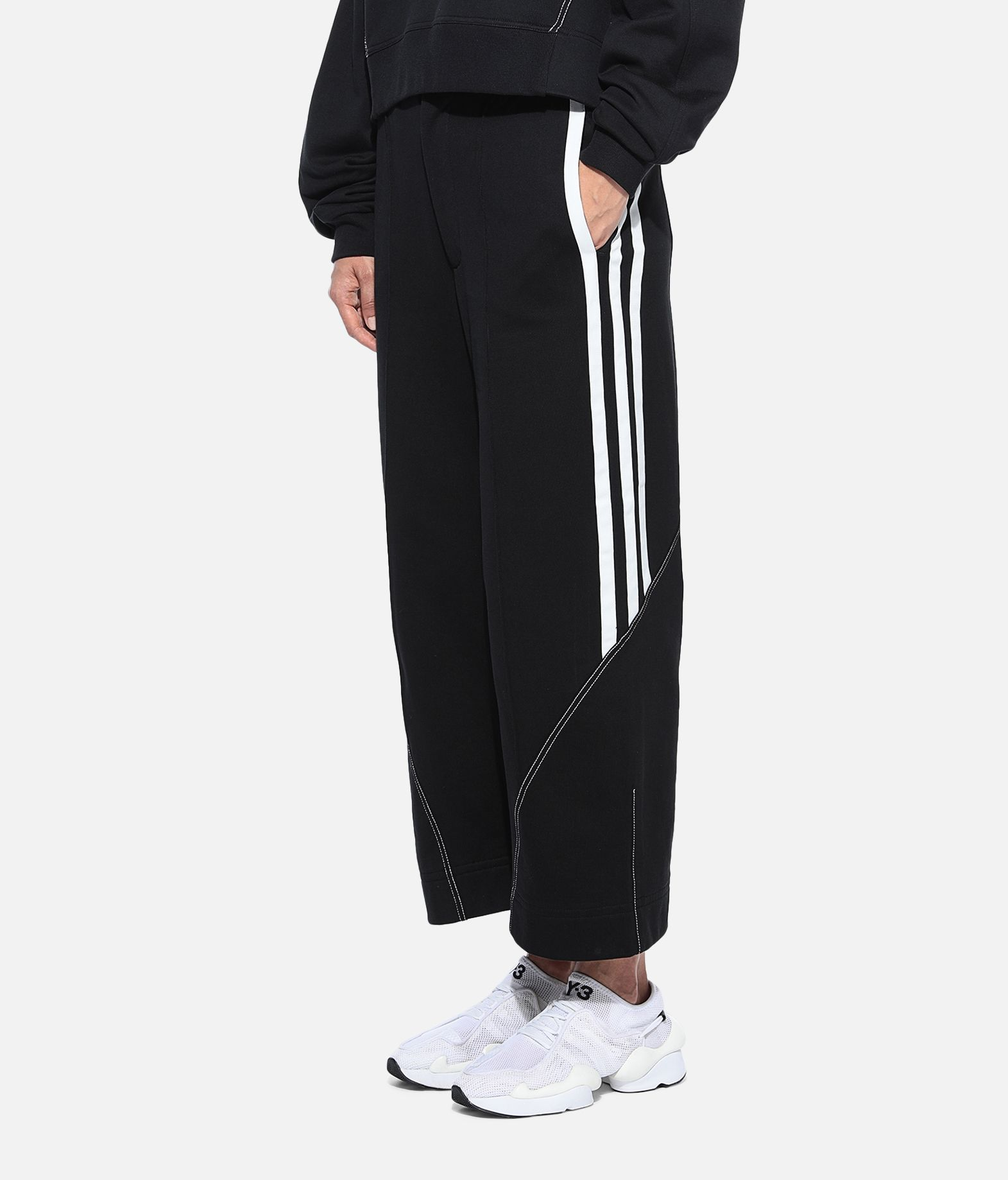Y-3 Y-3 Wide 3/4 Pants Fleece-Hose Damen e