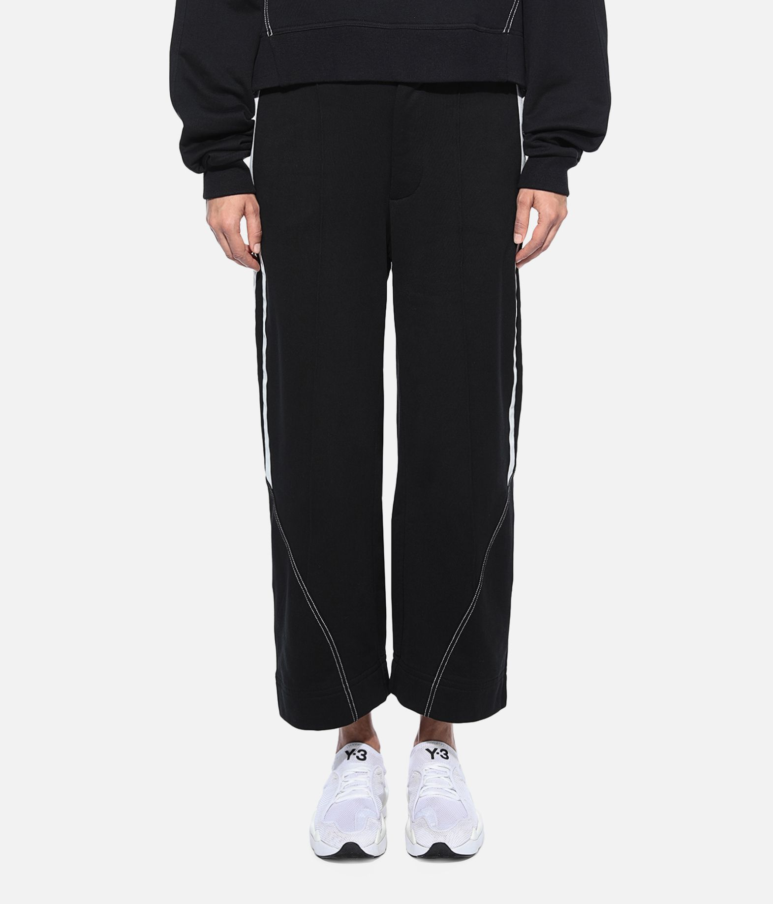 Y-3 Y-3 Wide 3/4 Pants Fleece-Hose Damen r