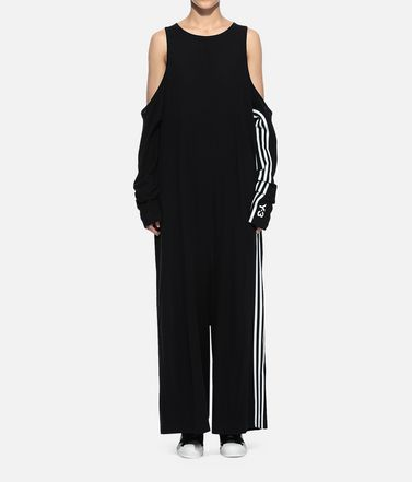 Y-3 Overall Woman Y-3 Crepe Yohji Jumpsuit r