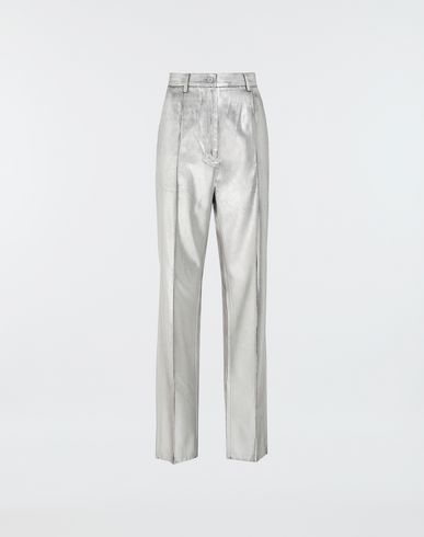 MM6 MAISON MARGIELA Casual pants [*** pickupInStoreShipping_info ***] Silver coated casual trousers f