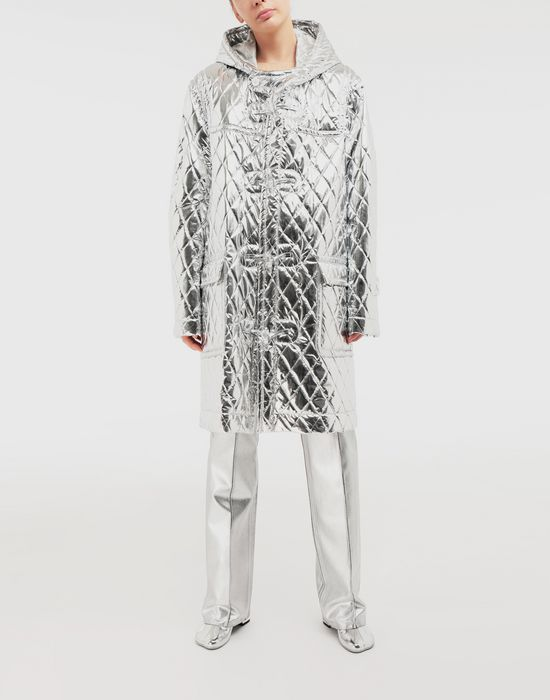 MM6 MAISON MARGIELA Silver coated casual trousers Casual pants [*** pickupInStoreShipping_info ***] d