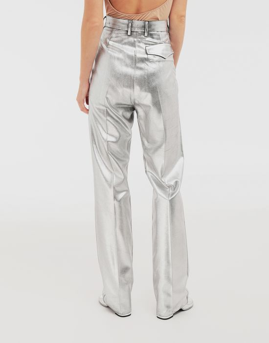 MM6 MAISON MARGIELA Silver coated casual trousers Casual pants [*** pickupInStoreShipping_info ***] e