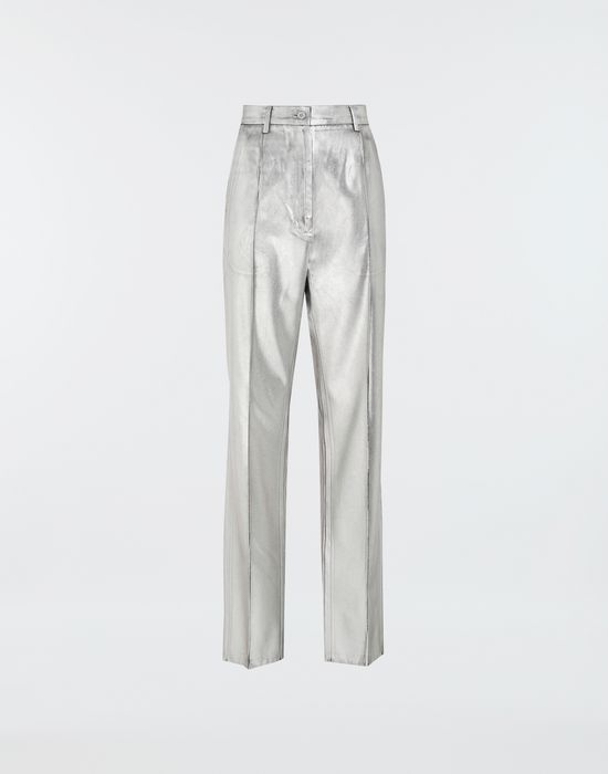 MM6 MAISON MARGIELA Silver coated casual trousers Casual pants [*** pickupInStoreShipping_info ***] f