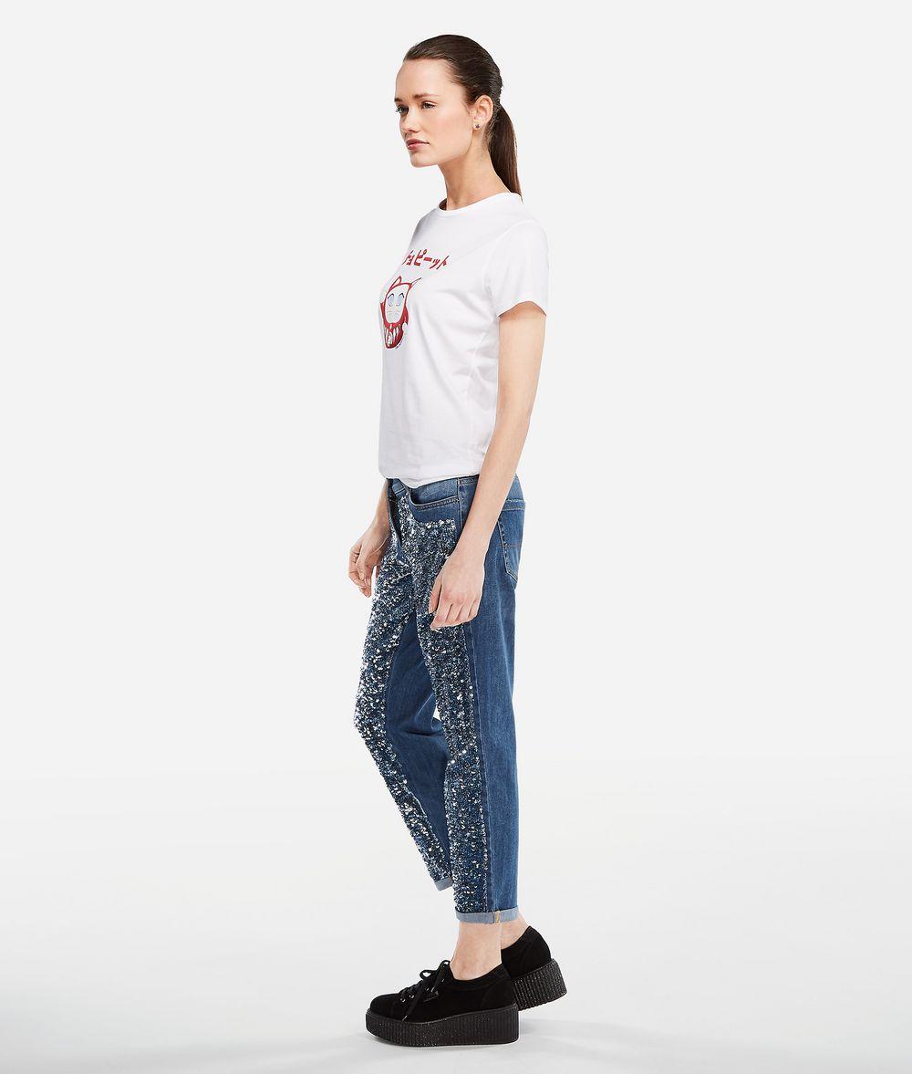 KARL LAGERFELD K/Tokyo Jeans mit Paillettenbesatz Hose Damen d