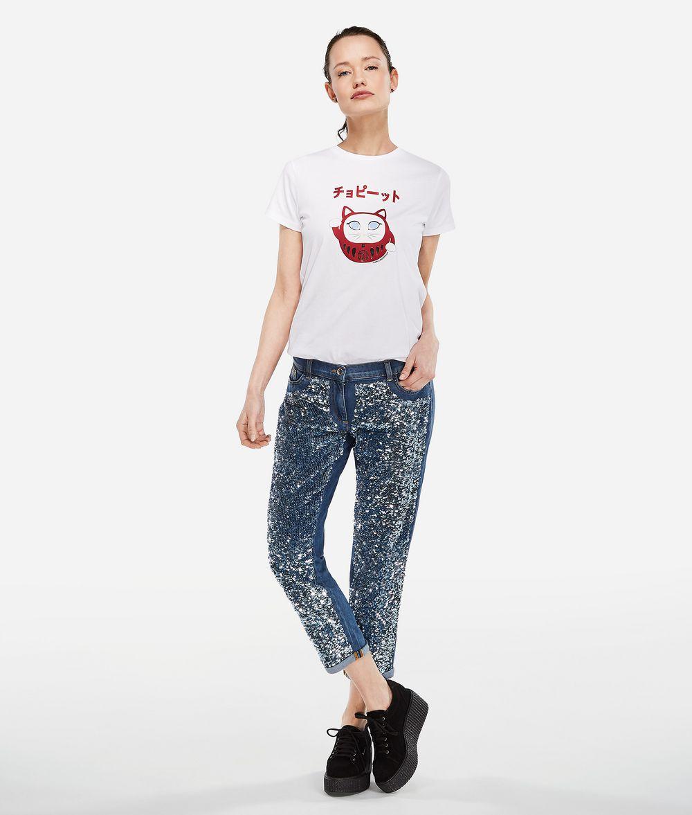 KARL LAGERFELD K/Tokyo Jeans mit Paillettenbesatz Hose Damen f