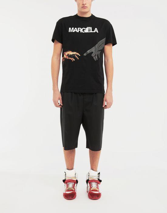 MAISON MARGIELA Spliced waistband wool poplin shorts Shorts [*** pickupInStoreShippingNotGuaranteed_info ***] d