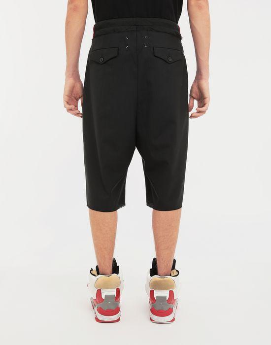 MAISON MARGIELA Spliced waistband wool poplin shorts Shorts [*** pickupInStoreShippingNotGuaranteed_info ***] e