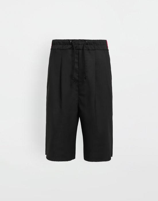 MAISON MARGIELA Spliced waistband wool poplin shorts Shorts [*** pickupInStoreShippingNotGuaranteed_info ***] f