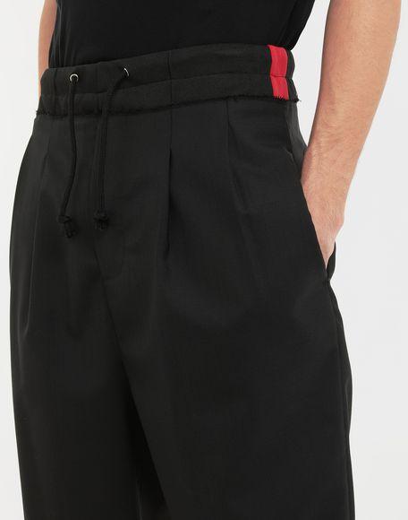 MAISON MARGIELA Spliced waistband wool poplin shorts Shorts Man a