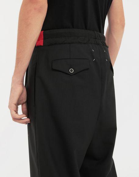 MAISON MARGIELA Spliced waistband wool poplin shorts Shorts Man b