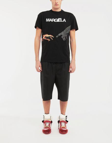 MAISON MARGIELA Spliced waistband wool poplin shorts Shorts Man d