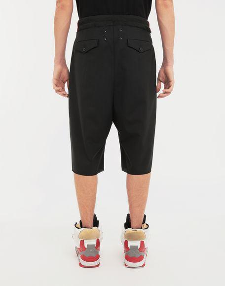 MAISON MARGIELA Spliced waistband wool poplin shorts Shorts Man e