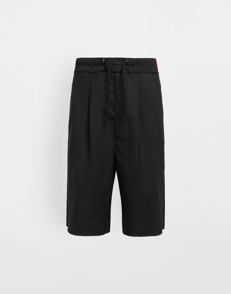 MAISON MARGIELA Spliced waistband wool poplin shorts Shorts Man f