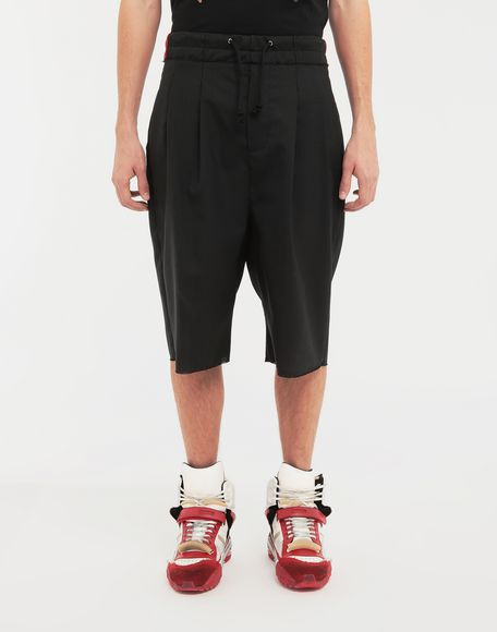 MAISON MARGIELA Spliced waistband wool poplin shorts Shorts Man r